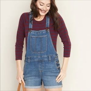 Old Navy Denim Jean Shorts Overalls